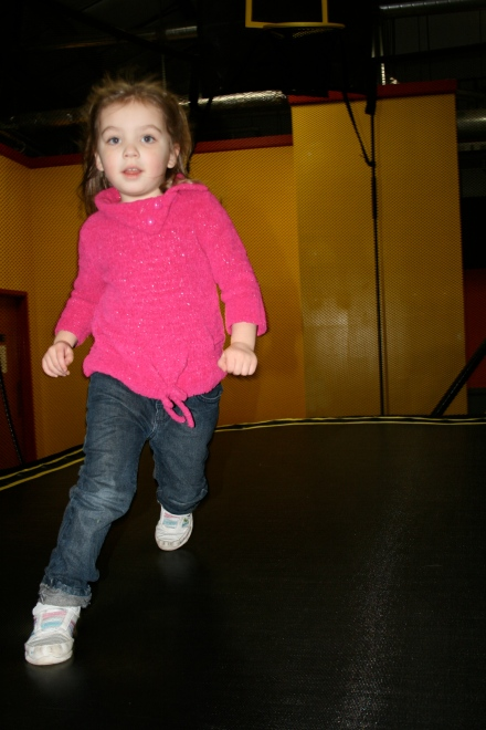 """Mom! I'm running AND jumping!"""